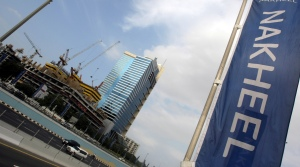 A banner of Dubai's property giant Nakhe